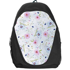 Floral Pattern Background Backpack Bag