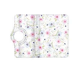 Floral Pattern Background Kindle Fire Hd (2013) Flip 360 Case