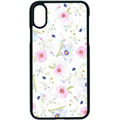 Floral Pattern Background Apple Iphone X Seamless Case (black)