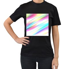 Background Course Abstract Pattern Women s T Shirt (black) (two Sided)