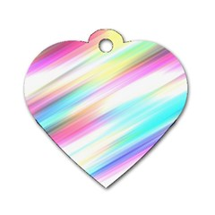 Background Course Abstract Pattern Dog Tag Heart (two Sides)