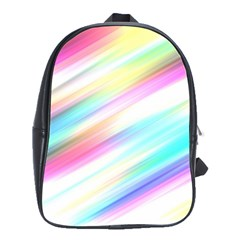 Background Course Abstract Pattern School Bag (large)