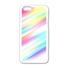 Background Course Abstract Pattern Apple Iphone 6/6s White Enamel Case