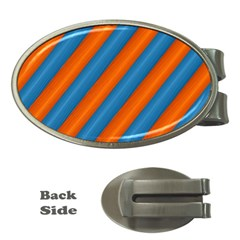 Diagonal Stripes Striped Lines Money Clips (oval)