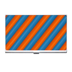 Diagonal Stripes Striped Lines Business Card Holders