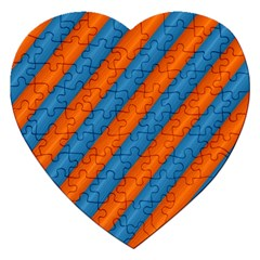 Diagonal Stripes Striped Lines Jigsaw Puzzle (heart)