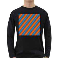 Diagonal Stripes Striped Lines Long Sleeve Dark T Shirts