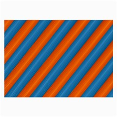 Diagonal Stripes Striped Lines Large Glasses Cloth (2 Side)