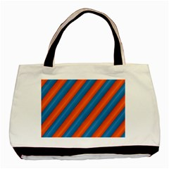 Diagonal Stripes Striped Lines Basic Tote Bag (two Sides)