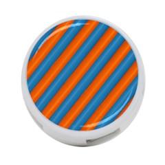 Diagonal Stripes Striped Lines 4 Port Usb Hub (two Sides)