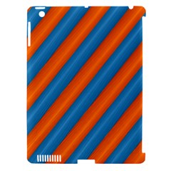 Diagonal Stripes Striped Lines Apple Ipad 3/4 Hardshell Case (compatible With Smart Cover)