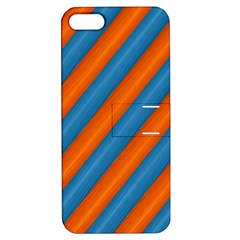 Diagonal Stripes Striped Lines Apple Iphone 5 Hardshell Case With Stand