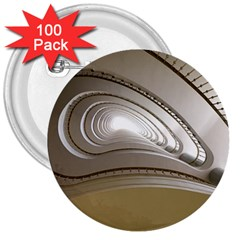Staircase Berlin Architecture 3  Buttons (100 Pack)