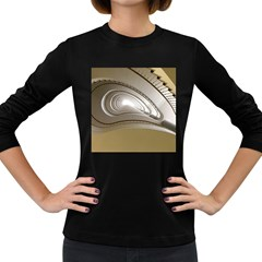 Staircase Berlin Architecture Women s Long Sleeve Dark T Shirts