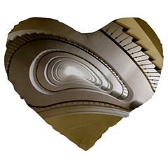 Staircase Berlin Architecture Large 19  Premium Heart Shape Cushions