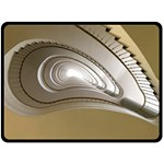 Staircase Berlin Architecture Double Sided Fleece Blanket (Large)  80 x60 Blanket Back