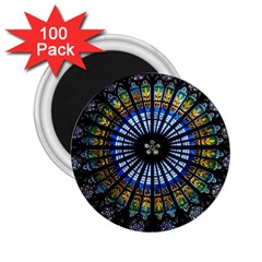 Rose Window Strasbourg Cathedral 2 25  Magnets (100 Pack)