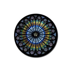 Rose Window Strasbourg Cathedral Magnet 3  (round)