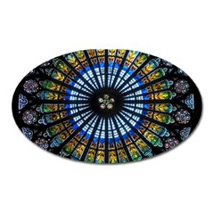Rose Window Strasbourg Cathedral Oval Magnet