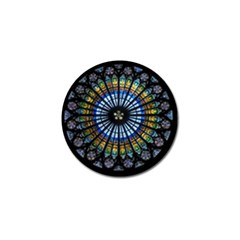 Rose Window Strasbourg Cathedral Golf Ball Marker (4 Pack)