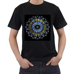Rose Window Strasbourg Cathedral Men s T Shirt (black) (two Sided)