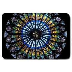 Rose Window Strasbourg Cathedral Large Doormat
