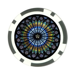 Rose Window Strasbourg Cathedral Poker Chip Card Guard (10 Pack)