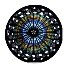 Rose Window Strasbourg Cathedral Round Filigree Ornament (two Sides)