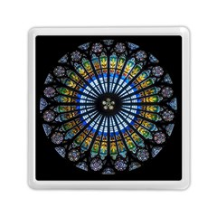 Rose Window Strasbourg Cathedral Memory Card Reader (square)