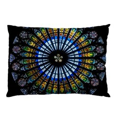 Rose Window Strasbourg Cathedral Pillow Case (two Sides)