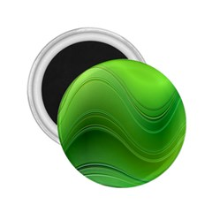 Green Wave Background Abstract 2 25  Magnets