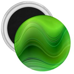 Green Wave Background Abstract 3  Magnets