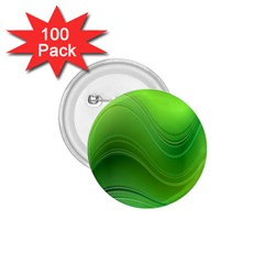 Green Wave Background Abstract 1 75  Buttons (100 Pack)