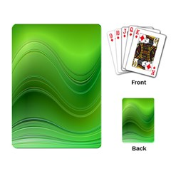 Green Wave Background Abstract Playing Card