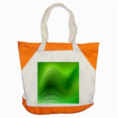 Green Wave Background Abstract Accent Tote Bag