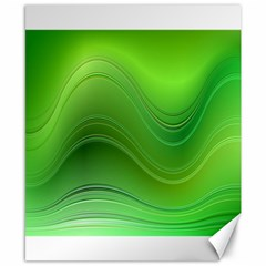 Green Wave Background Abstract Canvas 8  X 10