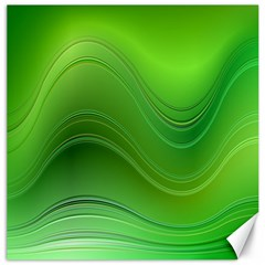 Green Wave Background Abstract Canvas 12  X 12
