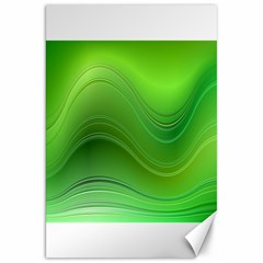 Green Wave Background Abstract Canvas 20  X 30