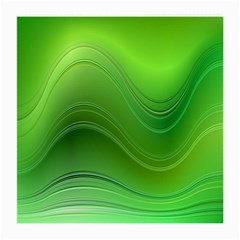 Green Wave Background Abstract Medium Glasses Cloth (2 Side)