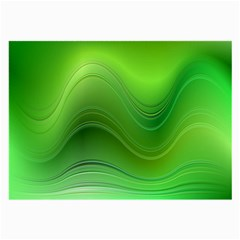 Green Wave Background Abstract Large Glasses Cloth