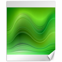 Green Wave Background Abstract Canvas 11  X 14