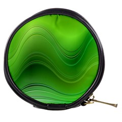 Green Wave Background Abstract Mini Makeup Bags