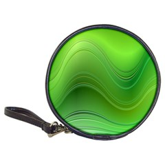 Green Wave Background Abstract Classic 20 Cd Wallets