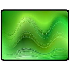 Green Wave Background Abstract Fleece Blanket (large)