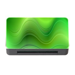 Green Wave Background Abstract Memory Card Reader With Cf