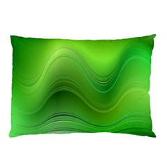 Green Wave Background Abstract Pillow Case (two Sides)