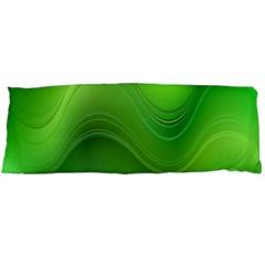 Green Wave Background Abstract Body Pillow Case (dakimakura)