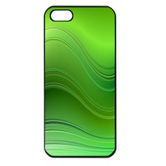 Green Wave Background Abstract Apple Iphone 5 Seamless Case (black)