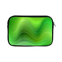 Green Wave Background Abstract Apple Ipad Mini Zipper Cases