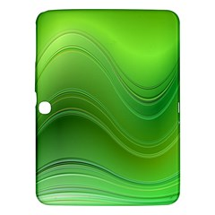 Green Wave Background Abstract Samsung Galaxy Tab 3 (10 1 ) P5200 Hardshell Case